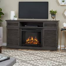 Gas And Electric Fireplaces by Black Electric Fireplaces Fireplaces The Home Depot