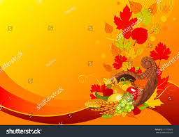thanksgiving background cornucopia harvest fruits stock