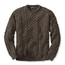 fisherman sweater cable knit crewneck sweater black sheep fisherman s