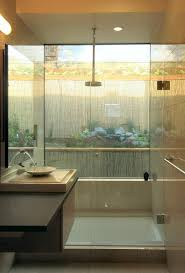 outside bathroom bathroom asian with infinity sink shallow sink