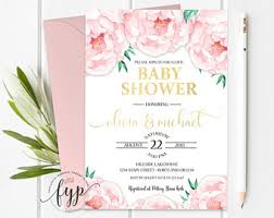 couples baby shower invitations coed baby shower etsy