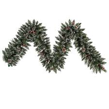 the aisle snow tipped pine and berry garland