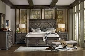 Wood Panel Bed Frame by Hooker Furniture Bedroom Vintage West King Wood Panel Bed 5700 90266