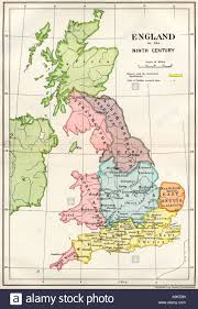 Maps Of England by Map Of England In The Ninth Century Stock Photo Royalty Free