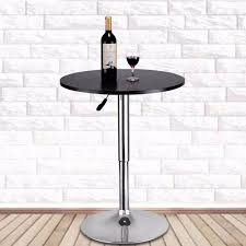Indoor Bar Table Goplus Modern Bar Table Adjustable Bistro Pub Counter Wood