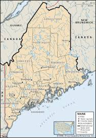 New York State Map With Cities And Towns by State And County Maps Of Maine