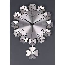 Wall Clock For Living Room by 3d Clover Creative Art Deco Wall Clock For Living Room Buytra Com