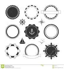nautical icons and badges templates stock vector image 58693241