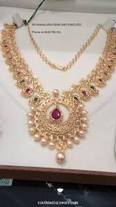 gold stones necklace designs images Gold stone necklace from sri mahalaxmi gems and jewels necklace jpg