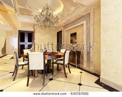 dining room luxury home white wall stock illustration 552603448
