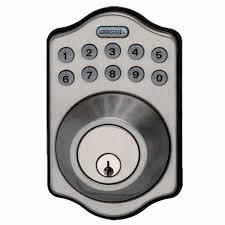 electronic keypad keyless single cylinder satin nickel deadbolt