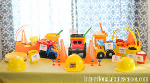 truck birthday party a boy turns 2 we throw a themed birthday party intentional