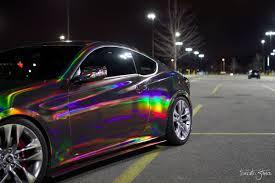 rainbow chrome lamborghini holographic chrome black cws