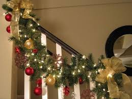 How To Decorate Banister With Garland Best 25 Christmas Stair Garland Ideas On Pinterest Christmas