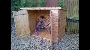 vintage backyard with bike storage shed ideas brown wooden
