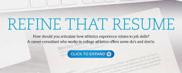 Jobs Don T Require Resume by A Student Athlete U0027s Guide Competing To Get A Job An Ncaa