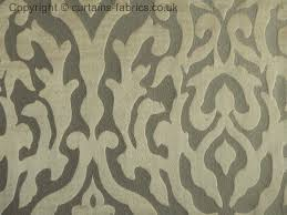 Pewter Curtains Dahlia By Wilde Design In Pewter Curtain Fabric