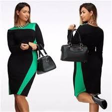 robe bureau grande taille robe bureau mode à manches longues droite robe