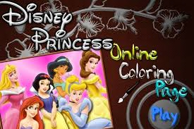 disney princesses coloring game princess games