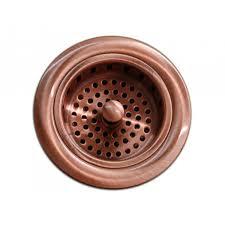 Kitchen Sink Cover Plate by Kitchen Bar Copper Sink Basket Strainer 3 5 Inch