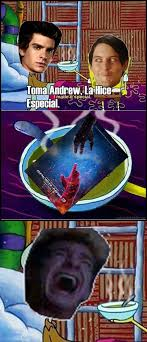Tobey Maguire Meme - spider man meme andrew garfield y tobey maguire by diegooswaldo