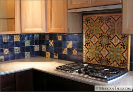 mexicantiles kitchen backsplash with decorative mural using