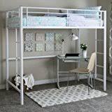 amazon com your zone metal loft twin bed by superindoor kitchen