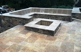 backyard stone fire pit outdoor living rooms brick paver showroom of tampa bay