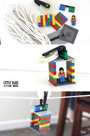 lego zip line activity and kid u0027s stem challenge