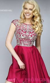 sherri hill cap sleeve beaded party dress promgirl