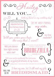 will you be my bridesmaid invitations will you be my bridesmaid card template best professional