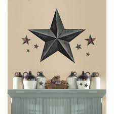country star home decor new giant slate gray barn star wall decals country kitchen stars