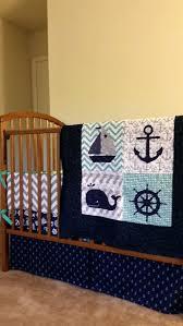 Nautical Crib Bedding Nautical Baby Boy Quilt Custom Baby Bedding By Baby Boy Quilt Crib
