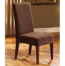 sure fit dining chair slipcovers amazon com sure fit stretch pique shorty dining room chair