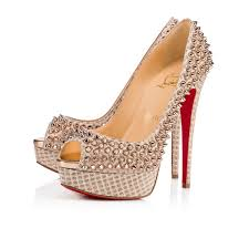 christian louboutin lady peep spikes 150 mm h166 christian