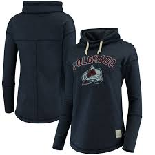 women u0027s colorado avalanche original retro brand navy funnel neck