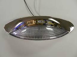 rv outside led lights 12 volt 18 led porch light oval clear cer rv trailer chrome