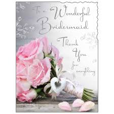 thank you bridesmaid cards wonderful bridesmaid thank you for everything card karenza paperie