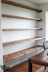 modern dining room wall shelving ideas with nice art