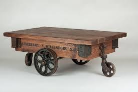 custom tulip wheel lineberry factory cart coffee table by walnut