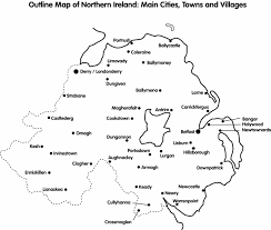 map uk villages cain maps outline map of northern ireland cities towns