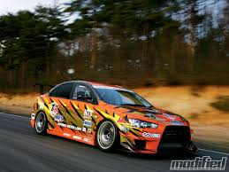 mitsubishi evo rally car 2008 mitsubishi evo x the orange monster modified magazine