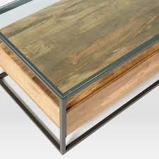 Large Storage Coffee Table Box Frame Storage Coffee Table West Elm