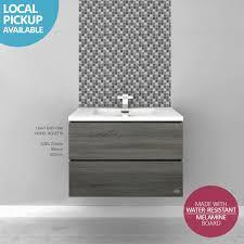 melamine bathroom cabinets bogetta 750mm light grey oak timber wood grain bathroom vanity