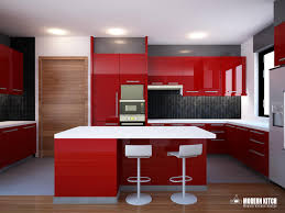 red kitchens high gloss small kitchen red spectraair com