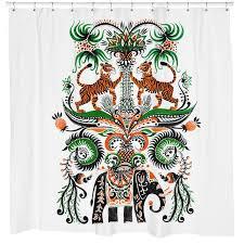 tiger tiger shower curtain u2013 sharp shirter