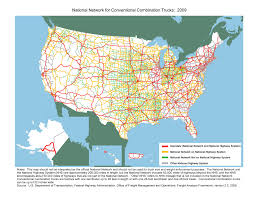 Highway Map Of United States by The National Network Fhwa Freight Management And Operations
