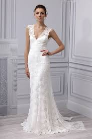 Simple Wedding Dresses Simple Lace Wedding Gown With V Neck Ipunya