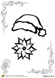 Coloriage magie de noël bonnet et fleur