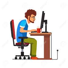 ag e de bureau moyen age travail dépendant de assis à l ordinateur de bureau
